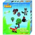 pack colgador animales del bosque (2500 piezas, colgador, cuerda, 2 soportes y 1 placa pegboard) hama beads midi