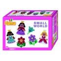 pack de inicio pequeño mundo princesa y flor (2000 piezas y 2 placas pegboards) hama beads midi
