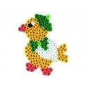 pack de inicio pequeño mundo perro y loro (2000 piezas y 2 placas pegboards) hama beads midi