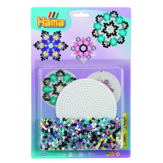 blister redonda mediana (1100 piezas y 1 placa pegboard) hama beads midi