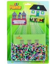 blister casa 2 (2000 piezas y 1 placa pegboard) hama beads midi
