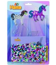 blister unicornio 2 (2000 piezas y 1 placa pegboard) hama beads midi