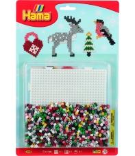 blister navidad (1100 piezas y 1 placa pegboard) hama beads midi