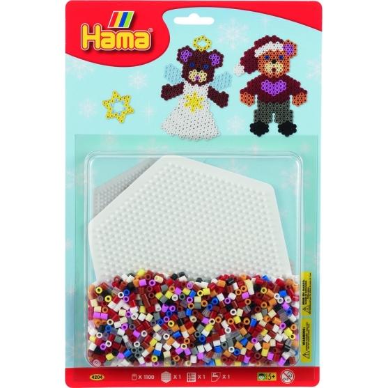 blister ositos (1100 piezas y 1 placa pegboard) hama beads midi