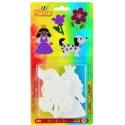 blister 3 placas pegboards (perro, flor y princesa pequeñas) para hama beads midi
