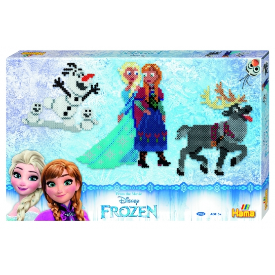 pack de inicio disney frozen grande (6000 piezas y 3 placas pegboards) hama beads midi