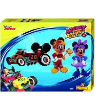 pack de inicio mickey y los súper pilotos (4000 piezas y 2 placas pegboards) hama beads midi