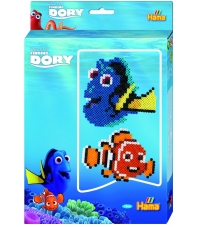 pack de inicio buscando a dory (2000 piezas y placa pegboard) hama beads midi