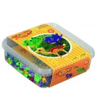 pack de inicio (600 piezas, 6 soportes y 1 placa pegboard) hama beads maxi