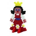 pack blister princesa (250 piezas, 2 soportes y placa pegboard) hama beads maxi