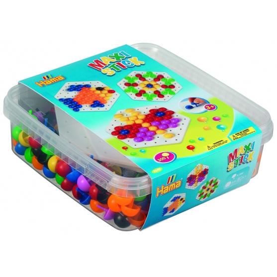 pack de inicio (300 piezas y 2 placas pinboards) hama maxi stick