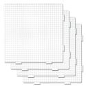 pack 4 placas pegboards cuadradas 15 x 15 cm conectables para hama beads midi