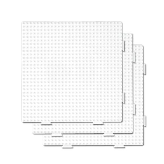 pack 3 placas pegboards cuadradas 15 x 15 cm conectables para hama beads midi