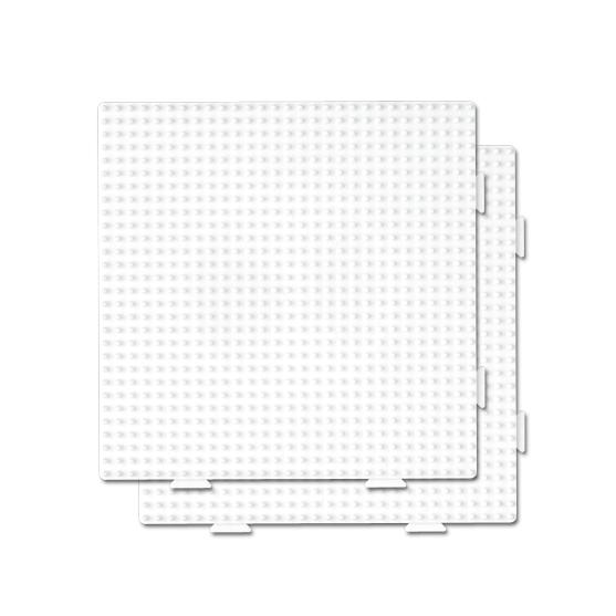 pack 2 placas pegboards cuadradas 15 x 15 cm conectables para hama beads midi