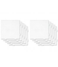 pack 10 placas pegboards cuadradas 15 x 15 cm conectables para hama beads midi