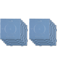 pack 10 placas pegboards cuadradas transparentes 15x15 cm conectables para hama beads midi