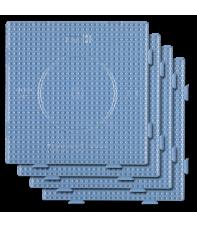 pack 4 placas pegboards cuadradas transparentes 15x15 cm conectables para hama beads midi