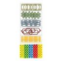 blister piezas con formas, colores primarios perler