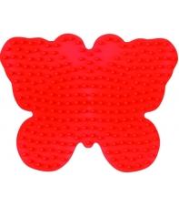 placa pegboard mariposa roja para hama beads midi