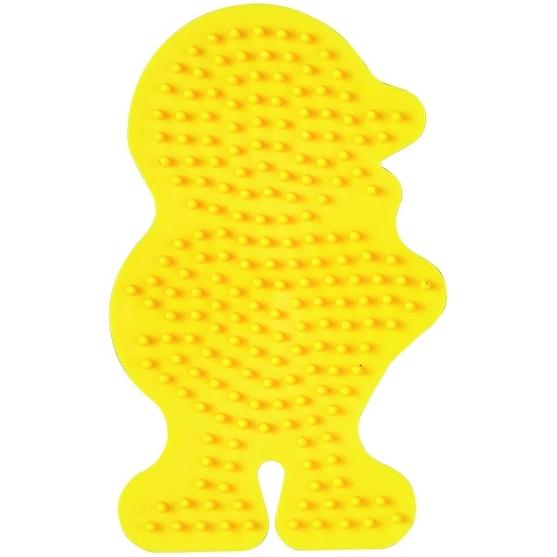 placa pegboard pollito amarillo para hama beads midi