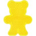 placa pegboard osito amarillo para hama beads midi