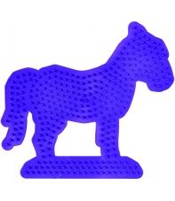 placa pegboard caballo lila para hama beads midi