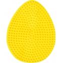 placa pegboard huevo amarillo para hama beads midi