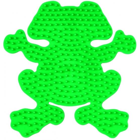 placa pegboard rana verde fluorescente para hama beads midi