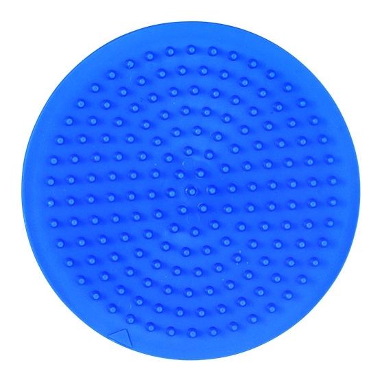 placa pegboard redonda 7 cm azul claro para hama beads midi