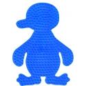 placa pegboard pingüino azul claro para hama beads midi