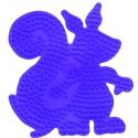 placa pegboard ardilla lila para hama beads midi