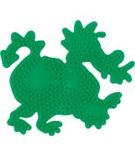 placa pegboard dragón verde fluorescente para hama beads midi