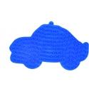 placa pegboard coche azul claro para hama beads midi