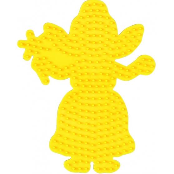 placa pegboard hada amarilla para hama beads midi