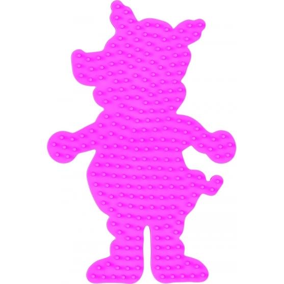 placa pegboard cerdo rosa pastel para hama beads midi