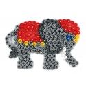 placa pegboard elefante pequeño azul claro para hama beads midi