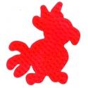 placa pegboard loro rojo para hama beads midi