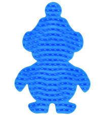 placa pegboard pingüino pequeño azul claro para hama beads midi