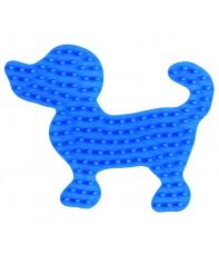 placa pegboard perro pequeño azul claro para hama beads midi