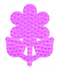 placa pegboard flor pequeña rosa pastel para hama beads midi