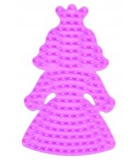 placa pegboard princesa pequeña rosa pastel para hama beads midi