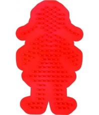 placa pegboard niña roja para hama beads midi