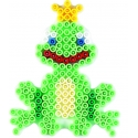 placa pegboard rana principe verde fluorescente para hama beads midi