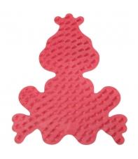 placa pegboard rana principe roja para hama beads midi