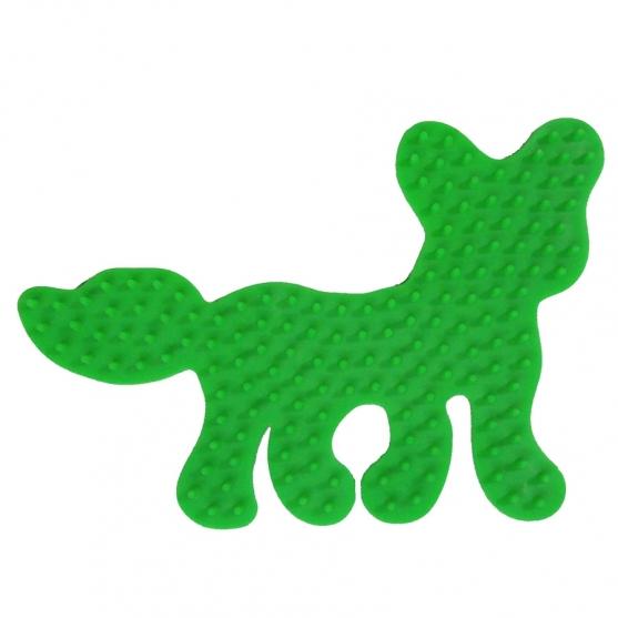 placa pegboard zorro verde fluorescente para hama beads midi