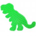 placa pegboard dinosaurio verde fluorescente para hama beads midi