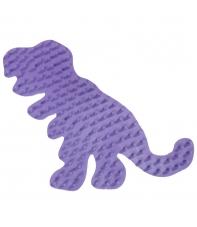 placa pegboard dinosaurio lila para hama beads midi