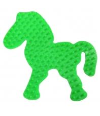 placa pegboard poni verde fluorescente para hama beads midi
