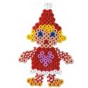 pack de inicio calendario de adviento navidad (5000 piezas y 5 placas pegboards) hama beads midi