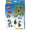 pack de inicio navidad 2 (2000 piezas y placa pegboard) hama beads midi
